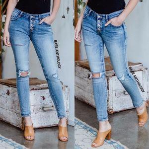 Denim - KATHLEEN Distressed Skinny Jeans